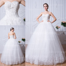 Wholesale 2014 Real Image Ball Gown Wedding Dresses Sweetheart Crystals Beaded Lace Applique Sequins Floor Length Lace up Bling Bridal Gowns BZP0383