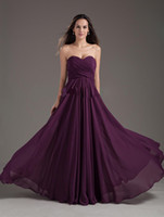 Cheap Modest A-Line Chiffon Bridesmaid Dresses Maid of Honor Gown Sweetheart Pleat Floor Length Bandage Lace-Up Back Sleeveless Custom Made Color