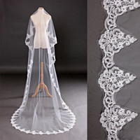 Cheap One-Layer Latest Bridal Veil Best Cathedral Length Finished Edge Wedding Veil