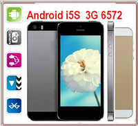 Wholesale 3G WCDMA Z5S MTK6572 Dual Core inch i5S Android WiFi Single SIM Zophone SIM Unlocked