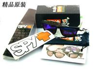 Acrylic Sports Rectangle Wholesale - 22 colors with original case ken block SPY sunglasses colorful reflective spy helm sunglasses sports sunglasses men spy gafas