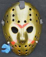 Wholesale 2014 new free shpping DHL Fancy dress party mask movie theme Black mask on Friday Jason mask