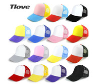 active advertising - TLOVE Summer Mesh Ball Cap DIY Hand painted Men and Women School Groups LOGO Custom Thermal Transfer Printing Advertising Hats Hot Sale