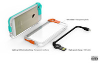 Wholesale For iPhone S Cell Phone Case With USB Charging Cable Lightning Flash LED Transparent Back Cover No Battery Required With Retail Package