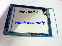 New and 100% original For iPad 2 3 4Touch Screen Digitizer & home button & adhesive For iPad 2 3 4
