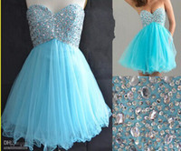 Cheap Reference Images mini homecoming dresses Best Tulle Sweetheart tulle graduation gowns
