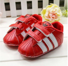 Wholesale 2014 New Fashion Baby First Walkers Korean Version Shoes Lovely Little Baby Girl Shoes Red Patent Leather Shoes Striped TX