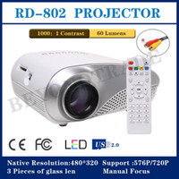 DLP RGKNSE 480*320 Wholesale - New Mini Projector For Home Cinema Support TV Video Games XBOX One PS3 Led Projector HDMI Portable Entertain Multimedia-free shi
