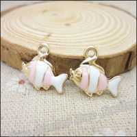 fishing floats - High Quality mm Charms Fish Pendant KC Gold Drip Alloy Floating charm DIY Metal Jewelry Findings