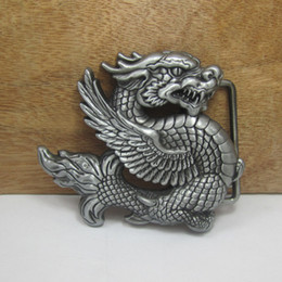 BuckleHome Dragon belt buckle animal belt buckle with pewter finish FP-03018 free shipping