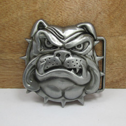 BuckleHome dog belt buckle animal belt buckle with pewter finish FP-02750 free shipping