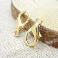 jewelry parts - 200pcs Lobster Clasp Hooks Gold Color Parrot Clasps for necklace bracelet chain DIY Jewelry Accessory Findings Parts
