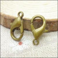 Wholesale 200pcs Lobster Clasp Hooks Antique bronze Color Parrot Clasps for necklace bracelet chain DIY Jewelry Accessory Findings Parts