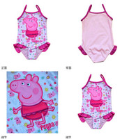Girl One-piece 2-3Y,3-4Y,4-5Y,5-6Y NEW Girls Baby Kids Peppa Pig Swimsuit Swimming Costume Tankini Swimwear 2-6Y Swimming Toddler One-Piece