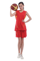 Wholesale 2014 Womens Custom Basketball Jerseys Girls Sports Training Clothes Red Competition Uniforms SZ L XL able mix any size color