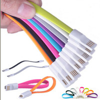 Wholesale Magnet Flat Short Pin Micro USB Data Charger Cable Cord For Samsung Galaxy S3 S4 S5 NOTE HTC LG