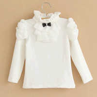 Wholesale 2014 new autumn baby clothes cotton joker render unlined upper garment Turtle neck long sleeve T shirt manufacturer of the girls
