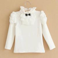 Girl Spring / Autumn Standard 2014 new autumn baby clothes cotton joker render unlined upper garment Turtle neck long sleeve T-shirt manufacturer wholesale of the girls