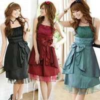 Women Natural Uned 2014 Lovely satin Strapless women cocktail party ball gown dress bridesmaid dress plus size teens NQ063