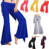 Cheap Hot Sell Quality Women Yoga Tribal Belly Dance Costume Dancing Pants 7 colors # L034916