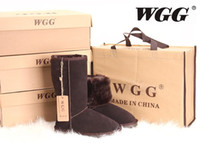 Wholesale Classic tall WGG5815 style Women s Australia snow boots Winter Fashion style Warm stable With box certificate dust bag