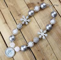 Wholesale New Arrive styles Chunky bubblegum kids Frozen Elsa Anna Olaf group Bottle cap pendant Necklace