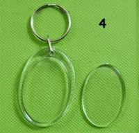 Wholesale fashion acrylic photo key chain advertise promotional product ellipse hotsale acrylic picture keychain
