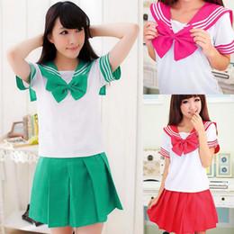 Wholesale Fashion Colors Japanese Japan School Uniform Dress Cosplay Costume Anime Girl Lady Lolita Cute Dress Q01047