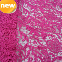 Wholesale NEW STYLE PLUM HIGH GRADE QUALITY FRENCH LACE EMBROIDERY GUIPURE LACE FABRIC POLYESTER