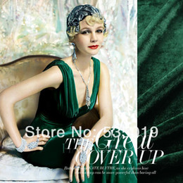 Wholesale High Quality Silk Velvet Curtains And Dress Fabric Green Textile Fabric For Sewing Material Retail