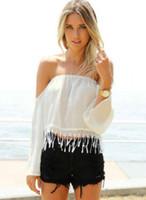 Cheap Slash Neck Blouses & Shirts Best Regular Polyester Cheap Blouses & Shirts
