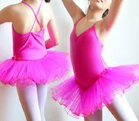 Wholesale Children s dance veil girl ballet skirt baby skirt with shoulder straps uniforms show costumes
