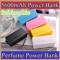 Power Bank Universal Universal UPS-100pcs 5600mah Perfume Phone Power Bank Emergency External Battery Charger panel USB for All Mobile phones