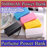 Power Bank Universal Universal DHL-200pcs 5600mah Perfume Phone Power Bank Emergency External Battery Charger panel USB for All Mobile phones