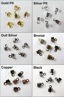 Charms Jewelry Findings Yes 300Pcs 4x9mm Fold Over End Cord Crimp Bead Caps For Leather Cord Jewelry Making Craft DIY 4N090