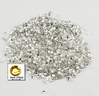 Wholesale 1000pc Loose flatback Glass Rhinestones Round mm ss Clear Q198