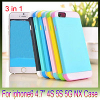Cheap For Apple iPhone iphone6 plus NX 3 in 1 Best Silicone Customize iphone6 5s NX 3 in 1