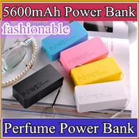 Power Bank Universal Universal DHL-5600mah Perfume Phone Power Bank Emergency External Battery Charger panel USB for All Mobile phones