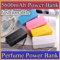 Power Bank Universal Universal UPS-200pcs 5600mah Perfume Phone Power Bank Emergency External Battery Charger panel USB for All Mobile phones
