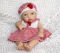 "Unisex Birth-12 months Vinyl Wholesale-Realistic and Lifelike 12"" full Silicon vinyl small baby doll Reborn clever girl doll"