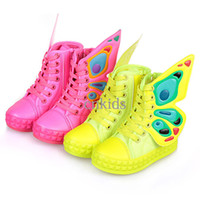 Wholesale 2014 New Autumn Kids Shoes Canvas With Wing Pattern Fashion High top Infant Shoes Casual Children Shoes For Kids KS40821