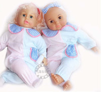 Unisex Birth-12 months Plastic Wholesale-new 2014 hot brand baby reborn dolls for girls classic toys special doll with clothes , plastic part hard, body stuffed soft