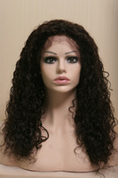 Cheap Natural Color #1b full lace human hair wigs Best Malaysian Hair Curly african american wigs