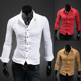 Wholesale Spring Korean version of the influx of new long sleeved shirt long sleeved shirt Men s long sleeved shirt Slim F325