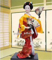 Wholesale Oriental Broider Doll Japanese Old style figurine Japanese doll statue J3 TY