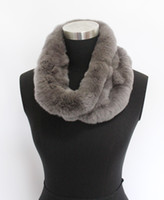 Wholesale 2014 New genuine rex rabbit fur circle scarfs scarves snoods neck warmer soft warm very thick