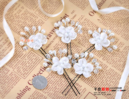New Head Flower Hairpin Korean Rhinestone Wedding Flowers In Montreal Cheap Crystal Pearl Tiara Wedding Hair Accessories