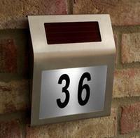Cheap Metal Solar Doorplate Best ECO Friendly  Address Number Lamp