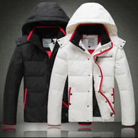 Men Hooded Short New 2014 High-grade Super Warm Hoodies European Thicken Cold-proof White Black Short Men's Down Coat For Winter Man Parkas Outerwear