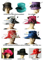 Wholesale NEW fashion sinamay hat sell in different style and colors ideal for church wedding races party kentucky derby ascot by EMS